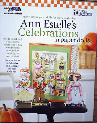 Mary Engelbreit Ann Estelle's Celebrations Paper Dolls Display Clothes Accessori