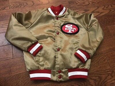 Vintage San Fransisco 49ers Chalk Line Satin Jacket - Youth 6/7