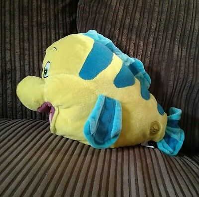 Disney store flounder large soft toy little mermaid