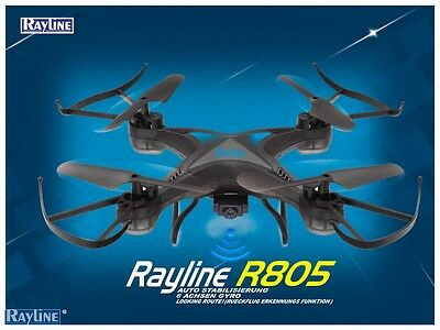 R805 WiFi Camera 4-Channel RC Quadrocopter Drohne Rayline HD-Kamera Extra Akku