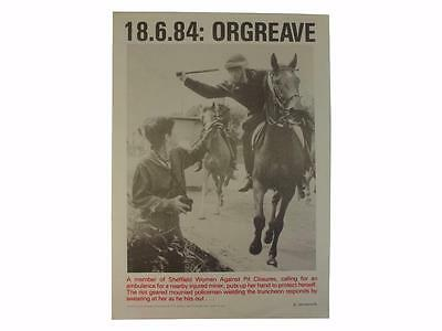 John Harris,Poster,18.6.84: Orgreave,Miners Strike,Police,Miners,Scargill,Coal