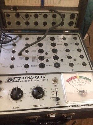 B&K 500 Dynaquick Tube Tester mutual conductance for guitar amp audio, With 510