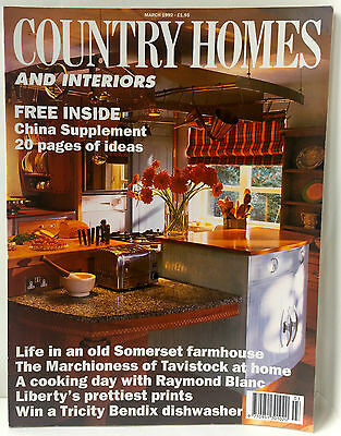 Vintage COUNTRY HOMES & INTERIORS MAGAZINE March 1992 Adverts Design Decoration