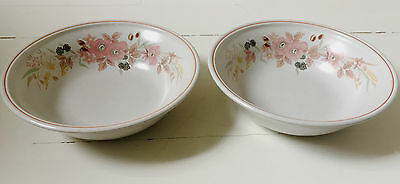 "2 x Hedge Rose Pattern 7"" Diameter Cereal Soup Bowls 3 sets Avail).Vintage Boots"