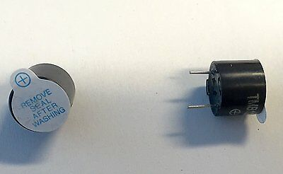 Beeper Alarm Sound Buzzer - 2 Piece Set Small 12mm x 9.5mm Electronic Hardware