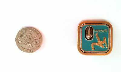 RARE MOSCOW OLYMPICS 1980 BADGE Wrestling Pin Sport Soviet Union Judo Game UK
