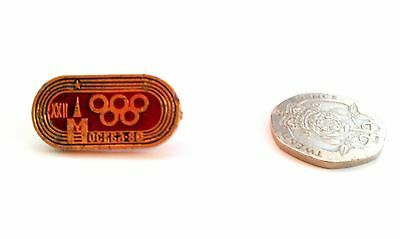 RARE MOSCOW OLYMPICS 1980 BADGE Pin Sports Soviet Union Russia Kremlin Games UK