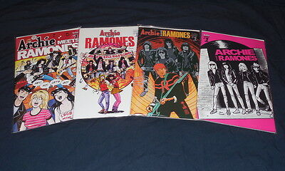 Archies Meets Ramones One Shot Set Of 4 Covers 2016 New Free Shipping