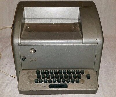 Vintage Creed & Co Teleprinter -Model 75/K3 MK3 - Teletype Telex TTY - Ham Radio