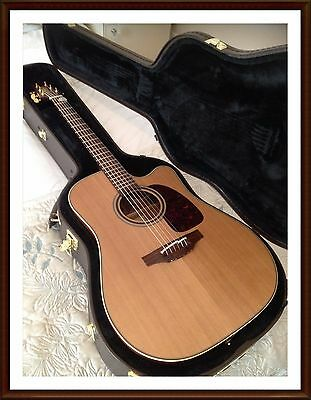Takamine TAN10CR electro acoustic guitar, Ltd edition, cool tube preamp & case