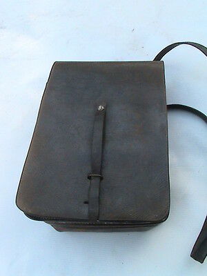 VERY OLD POLISH MILITARY BAG for personal equipment - LEATHER - RARE