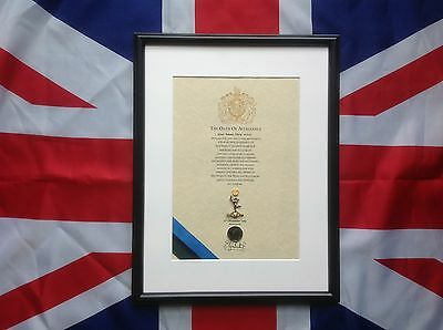 Royal Signals Oath Of Allegiance With Sovereign's Shilling And Cap Badge