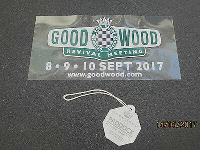 Goodwood Revival 2017 sept 8-9-10  Paddock Pass  only 2 left