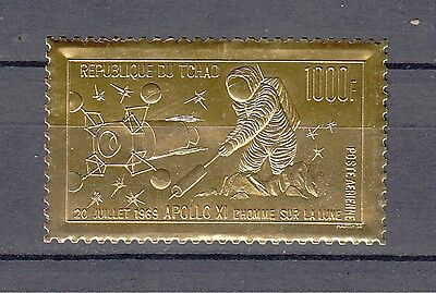 Chad 1969 Space Apollo XI 1000 Fr. STAMP EXCELLENT Condition