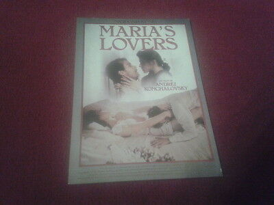 "Carte Postale / Postcard Cinema Affiche Du Film ""maria's Lovers"""