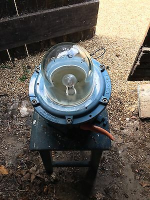 Vintage explosion-proof lights by British manufacturer Victor, circa late 1960s?