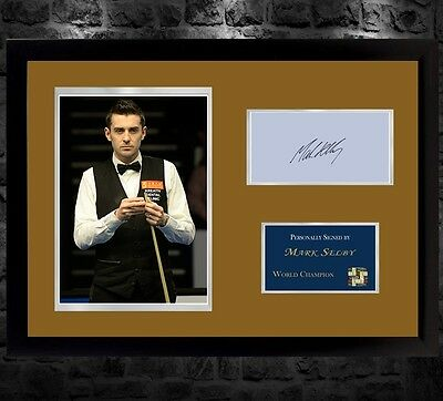 Mark Selby signed autograph A photo picture Memorabilia Snooker With Frame