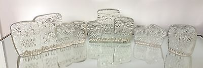 Chalet Glass Rare Ice Owl 4 Pieces Full Set All Signed *REDUCED SALE*