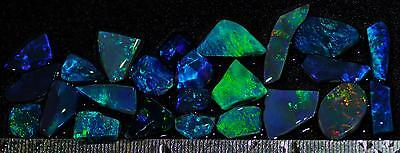 79.60 Carats Of Solid Gem Quality Lightning Ridge Rubbed Opal Parcel