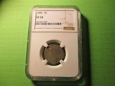 1886 Liberty Head Nickel NGC VF20