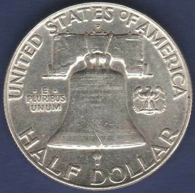 1958 United States America Denver 50c Franklin Half Dollar