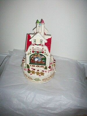 LENOX SANTA'S BAKE SHOP MUSICAL CENTEPIECE sculpture NEW in BOX  2008 annual