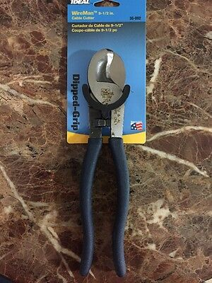 "IDEAL WireMan 9-1/2"" Dipped-Grip Cable Cutter 35-052 NEW!"