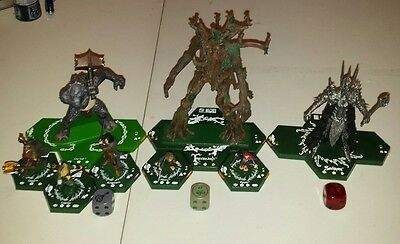 Combat Hex Lot Cave Troll Treebeard Sauron Complete Lord of the Rings Miniatures