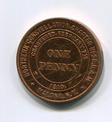 New York 1810 1D Token  Scarce