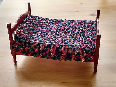 DOLLS HOUSE BEDDING  BLANKET  1:12th scale CROCHET Double (Bed NOT included)