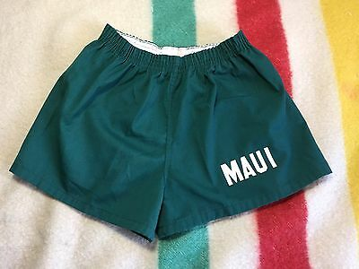 Vintage 70's MAUI Gym Shorts Small Phys Ed Deadstock Unworn NOS Hawaii