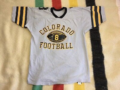 Vintage Deadstock U Of Colorado Buffalo 70's Jersey Shirt NOS Large NEW #8