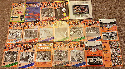 Collection of Dundee United (19) Programmes  FC Barcelona...