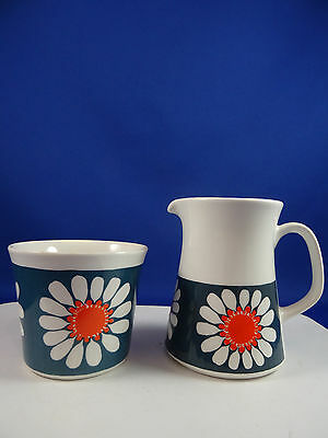 Vintage Figgjo Flint Turi Design Daisy Creamer & Open Sugar Bowl Norway