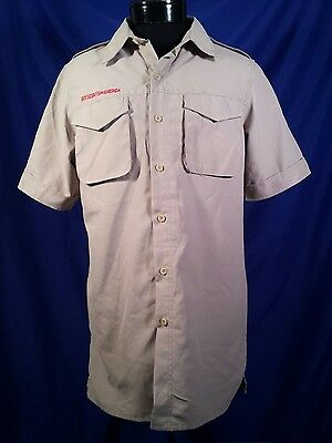NWT Boy Scouts of America Vented Polyester Uniform Shirt Item 612178 Men's Small