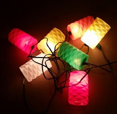 Vintage 7  Lantern Blow Mold Party/Patio/Camping String Lights