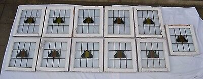11 British leaded light stained glass windows. R562. WORLDWIDE DELIVERY!!!