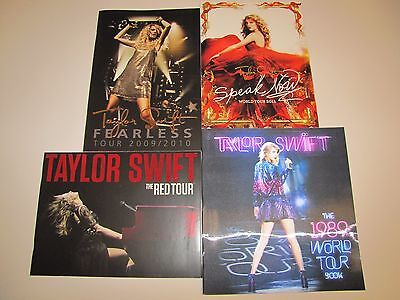Taylor Swift Fearless Speak Now Red 1989 Concert Tour Programs - FREE SHIPPING
