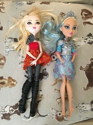 TWO x Ever After High Dolls 26cm missing hands