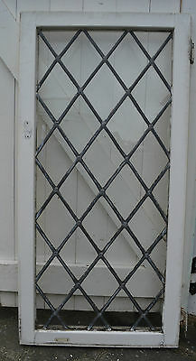 1 x big plain leaded light stained glass window (bowed) B503. DELIVERY!!!