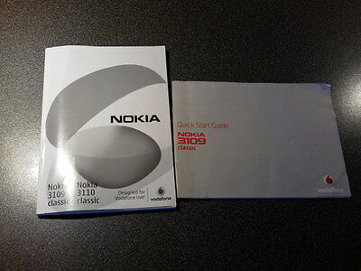Nokia 3109 3110 instruction booklet manual mobile phone