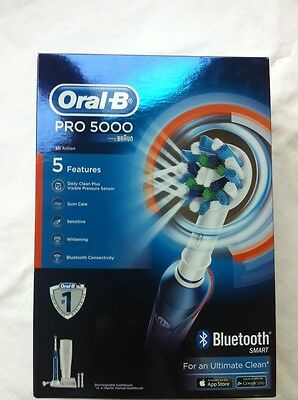 Braun Oral-B PRO 5000 CrossAction Rechargeable Electric Toothbrush Wireless BNIB