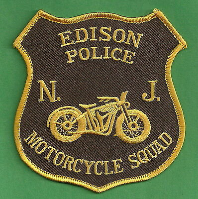 Edison New Jersey Police Motorcycle Unit Patch