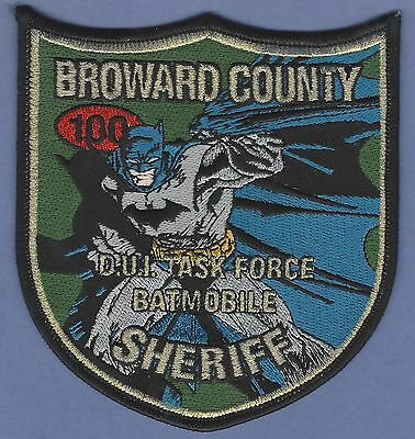 Broward County Sheriff Florida Dui Task Force Police Patch Batmobile