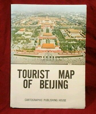 Vintage (1968) Tourist Map Of Beijing, Cartographic Publishing House, & 6 Stamps