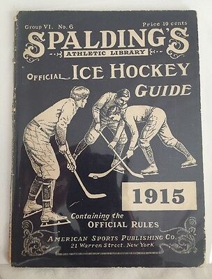 1915 Spaulding Official Ice Hockey Guide