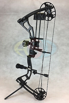"ASD 2017 Mirage Compound Bow 15-70Lbs 19-31"" 300Fps * Black * Ultimate Package *"