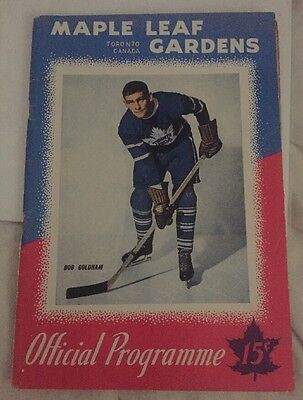 Toronto Maple Leaf Gardens Program Jan 25, 1947 Page Loose