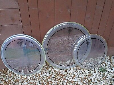 Remo Pinstripe Clear Tom Drumhead Set - 16/13/12 - # 2