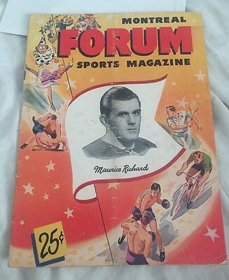 1949-50 Montreal Forum Canadians Magazine - Creased